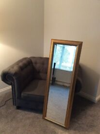 Gold Mirror From John Lewis.