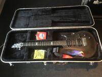 Flaxwood Aija Guitar Sandblasted Black Finish, in Hard Case
