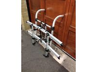 Bike rack for caravan or motorhome