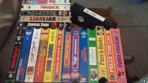 VINTAGE VHS MOVIES AND CARTOONS