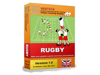 GESTICS RUGBY - Make graphics sports exercises, draw sport drills, trainings