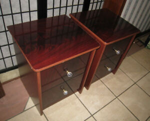 2 Italian Night Stands, cherry color in good condition