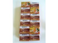 34x brand new in packet Sony DV Premium 60 minute casettes