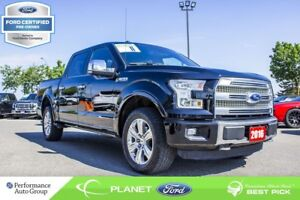 2016 Ford F-150 Platinum|3.5L|V-6|ROOF|NAVI|4x4|FORD CERTIFIED