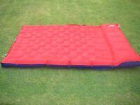 double blow up rubber mattress