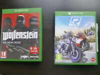 2 Xbox games: Wolfenstein The New Order and Ride