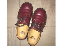 Dr marten burgundy ox blood shoes size 5
