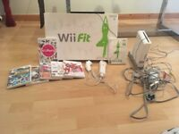 White Nintendo Wii and Wii fit