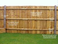 Feather Edge Fencing and Arris Rails