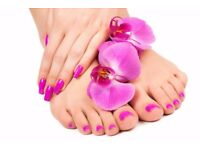 MOBILE HOME SERVICES MANICURE AND PEDICURE ONLY £ 12.00