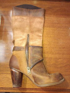 Timerland Tan Leather/Suede Women's Dress Below Knee Boots