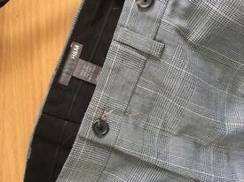 H&M men's EU48 grey/black trousers