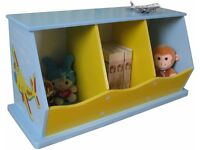 Childrens 3 bin storage unit