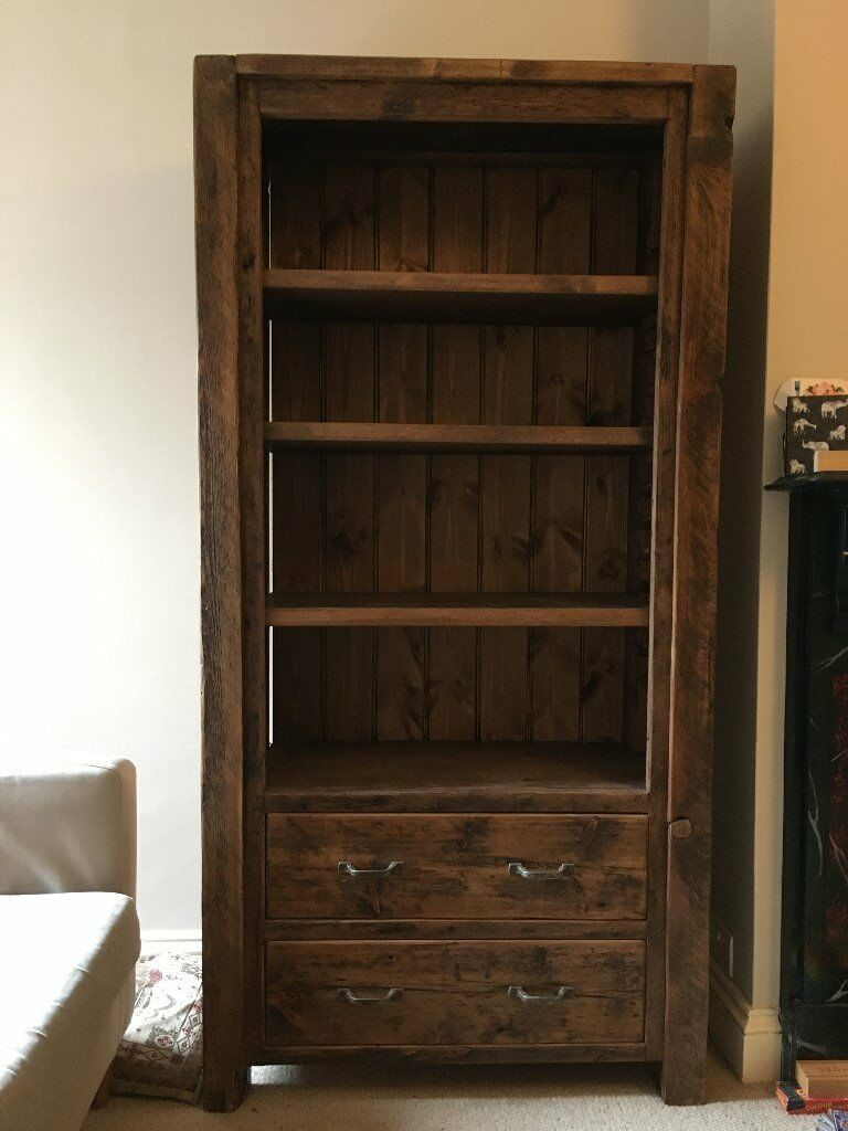 Bookcase with 2 draws, H 183cm, W 92cm, D 38cm by Vintage and Reclaimsolid wood constructionin Oxford, OxfordshireGumtree - Bookcase with 2 draws, approx. 5 years old (H 183cm, W 92cm, D 38cm Draws H 19cm, W 69cm, D35cm) from Vintage & Reclaimed, Edinburgh who describe this product as a chunky, reclaimed bookcase hand made from genuine, eco friendly reclaimed and finished...