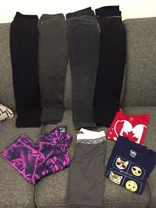 Girls size 10-12 bottoms and tops