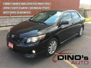 2010 Toyota Corolla S | $69 Weekly 0$ Down *OAC / Air Condition