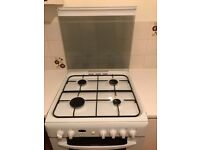 Indesit White 60cm Double Oven Gas Cooker