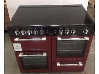 Leisure Cookmaster CK100C210R 100cm Electric Range Cooker with Ceramic Hob