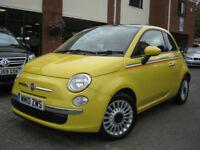2010 10-Reg Fiat 500 1.2 ( 69bhp ) LOUNGE,BRIGHT YELLOW,39,000 MILES!!!