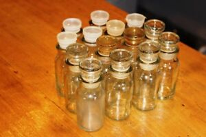 Vintage Apothecary-style Spice Jars - Set of 14