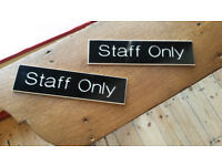Staff Only Sign (2)