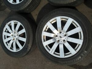 "18"" allow rims 5x114.3; 18x8 JJ with tires"