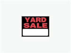 Yard Sale on Aylmer Street at Parkhill Rd in Peterborough