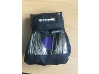 Pacsafe exomesh 120 litre travel security pack - unused, with pouch