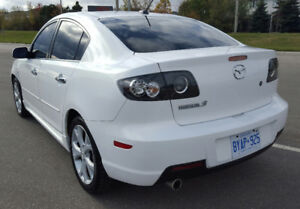 White 2009 Mazda3 GT SPORT - Entertainment package (Manual)