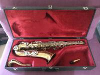 Evette Foreign Vintage Tenor Saxophone with Vandoren Java T75 mouthpiece and Rovner Versa Ligature