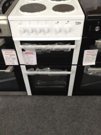 50cm white Beko electric cooker. 12 month gtee