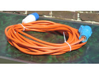 Mains lead for caravan or motorhome 20 metres