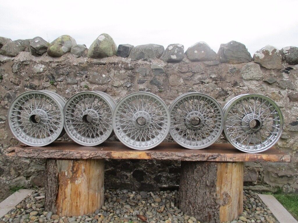 Triumph TR6 wire wheels | in Duns, Scottish Borders | Gumtree