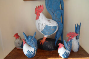 Rustic Country&Cottage Decor Wooden Roosters