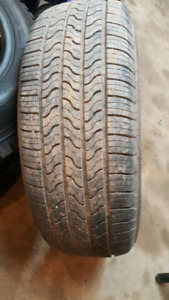 1 - 225 60 R 16 firestone tire like new 8/32 tread $35