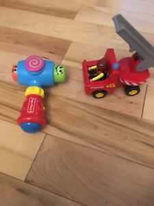 Fisher Price Musical hammer and fire truck