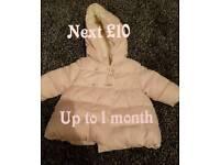 Babygirl coats and jackets.