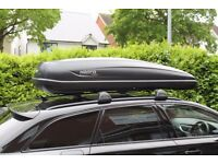 Hapro Traxer8.6 530l Extra Large Black Roof Box. Used once, so as new. Includes Box lift