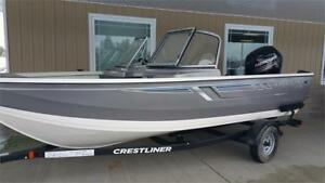 Crestliner 1700 Vision WT W/ 90HP Mercury Outboard & Trailer