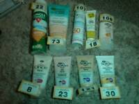 Various Sun creams