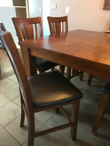 Tall Kitchen Table and 4 Chairs