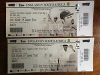 2 x England v South Africa - Oval Test - Day 3 - Sat 29 July - FACE VALUE