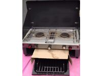 Gas Camp Grill & Double Burner with Full Gas Bottle for beach, picnic or holidays
