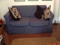 Free to collect small blue IKEA sofa