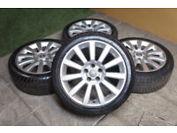 "Genuine Vauxhall 18"" Alloy wheels 5x110 Saab Astra Twintop Vectra Zafira Corsa Alloys"