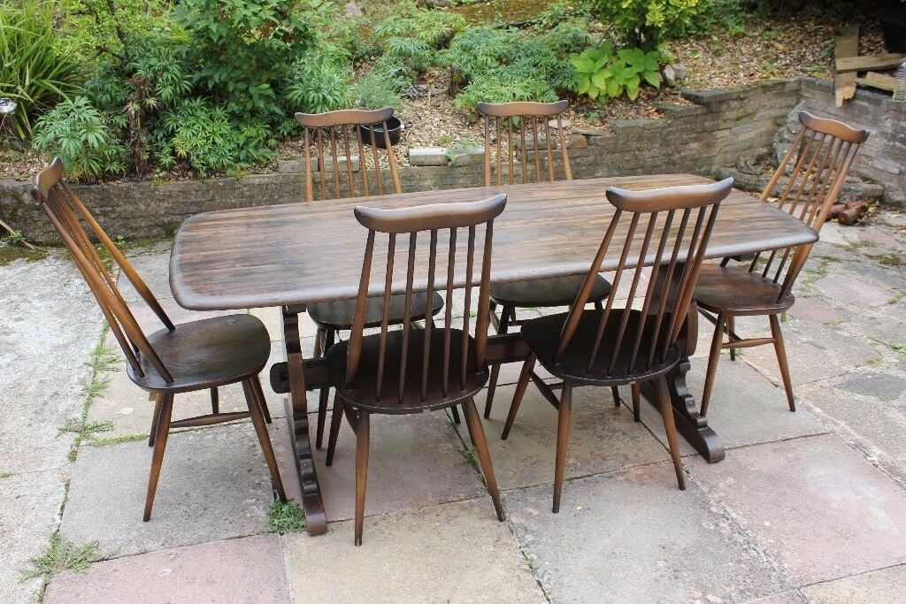 Ercol Refectory Table amp 6 Stickback Chairs in Torquay  : 86 from www.gumtree.com size 1024 x 683 jpeg 188kB