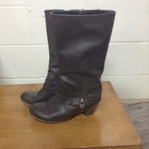Rieker Ladies Grey Boots...plus free pair of cowboy boots with p