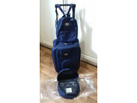 BRAND NEW navy cabin suitcase-(Space Saver)with MATCHING back pack AND MATCHING wash bag(RRP £39.99)
