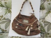 kathy van zeeland leather handbag