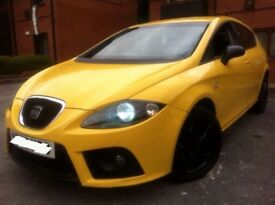2007 SEAT LEON 2.0 TDI FR SPORT 6 SPEED 220 BHP BLACK FR ALLOYS SKODA VRS TYPE R GOLF GTI TFSI S3